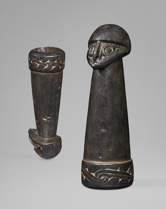 Betel Nut Mortar with a Human Head - Betel Nut Mortar with a