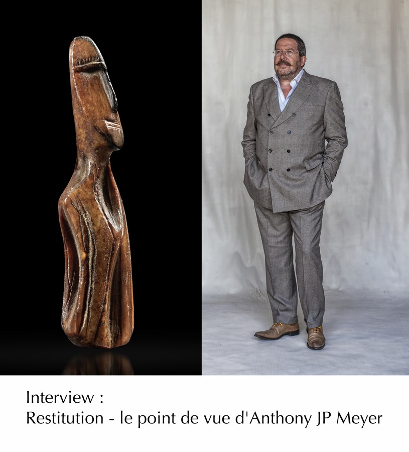Interview d'Anthony JP Meyer sur la Restitution des oeuvres africaines